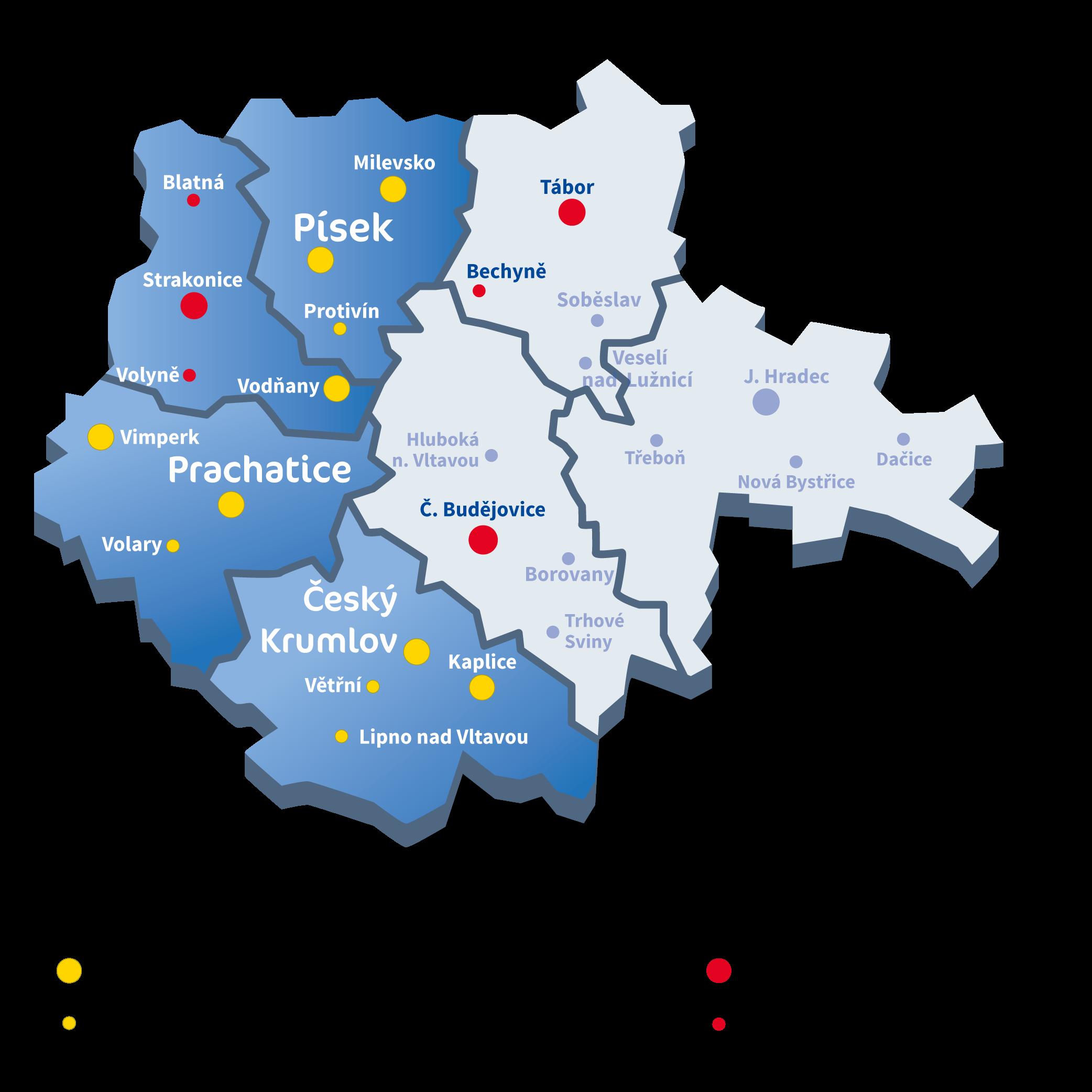 Mapa Busem.cz